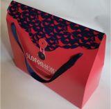 Sacola de transporte de papel colorido impresso para embalagem