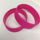 Geprägter Firmenzeichen-einzelne Farben-kundenspezifischer SilikonWristband