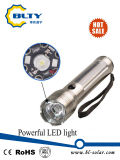 3W再充電可能なUSBケーブルが付いている太陽動力を与えられたLEDの懐中電燈のトーチ