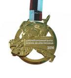 Logo personnalisé de l'émail exécutant médaille avec cordon d'imprimé de transfert