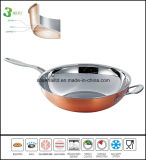 Compostos chineses Wok 3 ply Copper Wok
