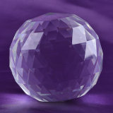 Crystal trasparente Glass Ball con Facets, Faceted Crystal Ball