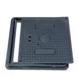 Square 500*500 SGS EN124 B125 Tampa de Inspeção quadrado composto com duas pegas