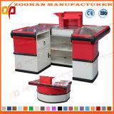 Supermarkt-System-Speicher-Prüfungs-Standplatz-Kostenzähler-Bargeld-Tisch-Schreibtisch (ZHc63)