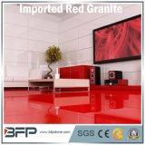 フロアーリングの床または浴室の壁または階段または台所カウンタートップの赤いカラー普及した使用のための石造りのタイルの花こう岩