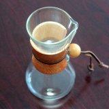 Бак создателя кофеего изготовленный на заказ ручного нержавеющего Dripper стеклянный с стальным фильтром сетки