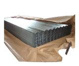 電流を通される波形の鋼板シートに屋根を付ける