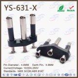 Штепсельная вилка Pin Yysr-633 Бразилии 3