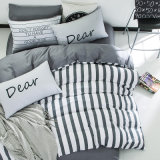 Baumwolleinfache europäische Streifen-Entwurfs-Bett-Blatt-Sets billig 100%