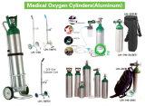 Medizinische Sauerstoffbehälter u. Karren