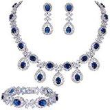 Устраивающих свадьбу украшения, разрез Marquise кубических Earring обедненной смеси бусы и браслет для женщин