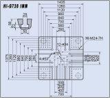 máquina plástica Hi-G738 da modelação por injeção 738t
