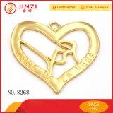 فضة نيكل نوع ذهب مستديرة قلب ينقش شكل علامة تجاريّة يعلم بطاقة تذكار وسام