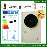 Riscaldatore di acqua della pompa termica di sorgente di aria dell'invertitore della sala +Dhw 35kw/70kw/105kw Evi Monoblock del tester del riscaldamento 150sq della Russia -20c