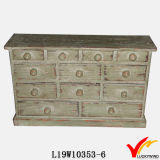 Sideboard сбор винограда Handmade белой картины малый деревянный