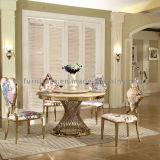 El último diseño moderno mármol de mesa de acero inoxidable Oro Piernas boda