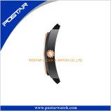 Fall-Form-Uhr der runden Form-zwei mit Silikon-Band