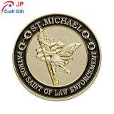 De alta calidad personalizado Angel ronda el patrón de la prueba de moneda