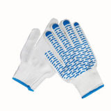 Palm Coated Wavy PVC Dotted Knitting machine Gloves for Worker