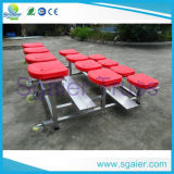 Disposizione dei posti a sedere di alluminio facile del Bleacher di trasporto 3-Row