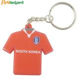 Chaîne de clés de PVC personnalisé avec logo