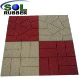 Pátio exterior com certificação CE Pavimentadora de piso de mosaico de Borracha