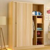 حديثة [مفك] خشبيّة أبيض غرفة نوم خزانة ثوب تصميم