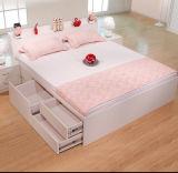 Heißer Verkaufs-preiswertes hölzernes Möbel-Bett