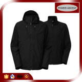 Revestimento preto do nylon 3 in-1 Softshell do OEM para homens