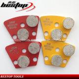 25X12mm поделенные на сегменты пусковые площадки диаманта пола металла меля для бетона