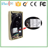 Prix ​​d'usine 12V Weigand 26 Watermark IP65 RFID Em-ID 125kHz Proximity Access Control Reader