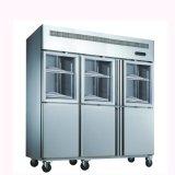 Temperatura doble acero inoxidable refrigeración estática cocina nevera-congelador