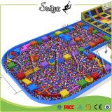 Совмещенная роскошью спортивная площадка Trampoline парка приключения привлекательная весьма крытая