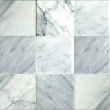 Mattonelle bianche della parete delle mattonelle di pavimento del marmo 4X4 di Bianco Carrara