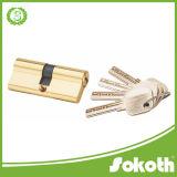 Metal tono Oro casa de seguridad solo abrir el cilindro de cerradura de puerta