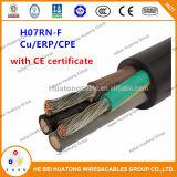 Cabo de borracha flexível certificado Ce do núcleo do núcleo 5 do núcleo 4 de H07rnf H05rnf H07rrf H05rrf 3