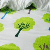 인쇄된 면 직물 침대 시트 누비이불 덮개 침구 세트