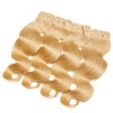 Bande 100% brésilienne de Remy de cheveu d'onde de corps de la couleur 613 dans des extensions de cheveu