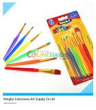 6PCS Colorful Plastic Artist Brush para Painting y Drawing