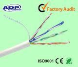 Cu de cobre descubierto 0.5m m del cable de LAN de UTP Cat5e 8 memorias del número