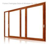 Porta de vidro do frame de alumínio eficiente da energia por Distribuidor Querer (FT-D120)