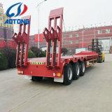 3 осей экскаватор низкого транспорта грузовой платформы Полуприцепе