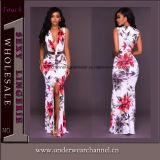Playa vestido largo mujer vestidos de niña Flor de la moda de verano (TLL5033)