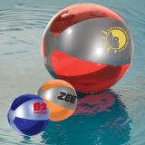 Esfera de praia transparente para a praia na promoção