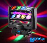 8X10W Spider RGBW/ Faisceau de LED blanche Mouvement de la tête des effets de lumière de l'éclairage DJ