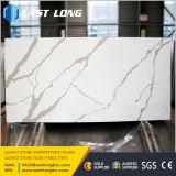 Pedra dourada artificial de quartzo de Calacatta da veia para o projeto da cozinha