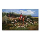 Pitture a olio classiche di scene Handmade di caccia su tela di canapa