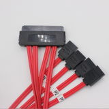 50cm 32pin 7pin SAS de Sff 8484 à 4 câble de SATA