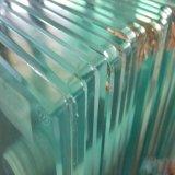 Bords polis plat en verre trempé clair