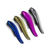Commerce de gros pinceau démêlant, chrome brillant aucun enchevêtrement de brosse, brosse démêlant, de la brosse à cheveux Detangler